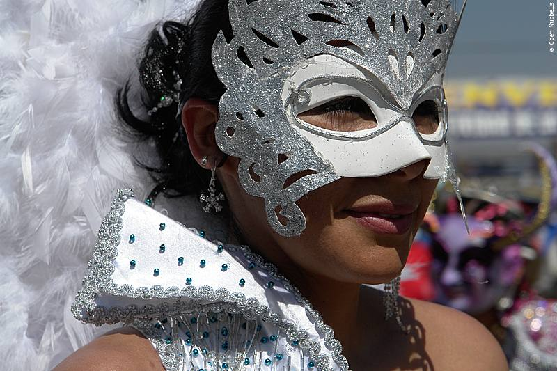 Woman participating in La Diablada Dance in Bolivia (©photocoen)