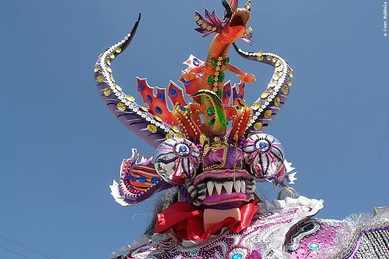 Extravagant Masques are part of the Gran Poder Procession in La Paz (©photocoen)
