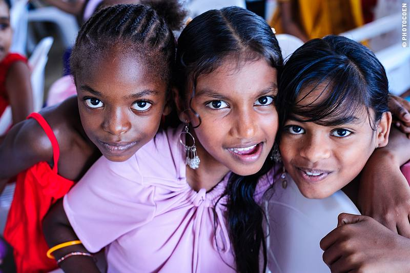 Kids at Sukh Dhaam's Children's Home in Suriname (©photocoen)