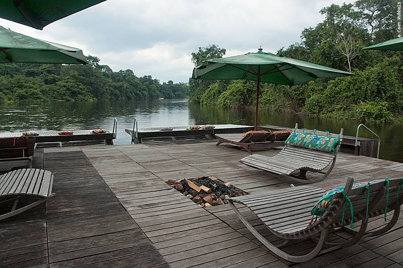 Floating Deck in the Cristalino River, Brazil (©photocoen)
