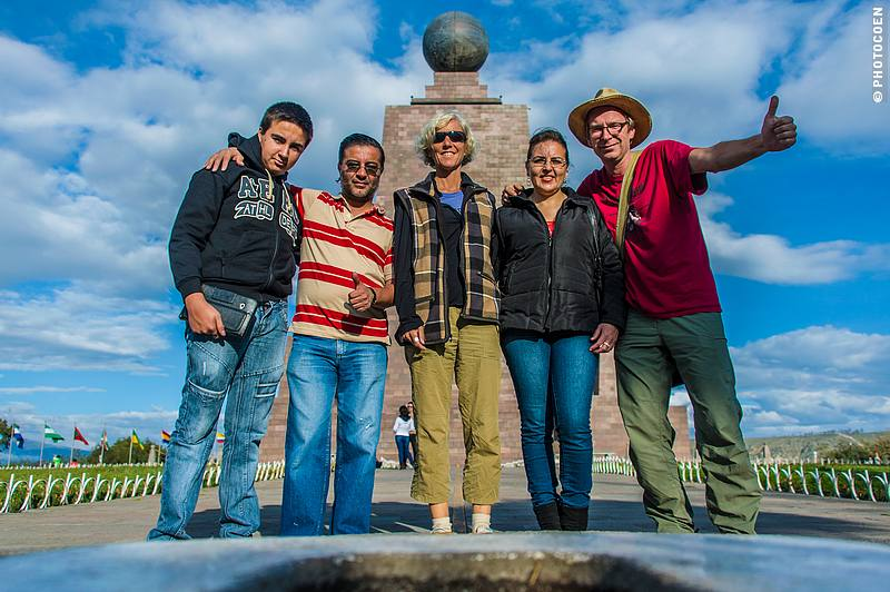 On another trip the Santiagos took us to La Mitad del Mundo, the equator