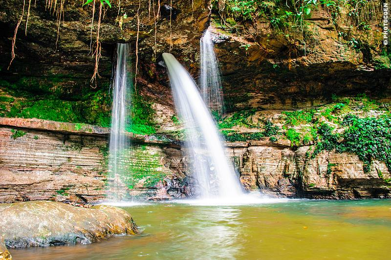 Waterfall Pedra Furada (meaning Stone with a Hole) in North Brazil