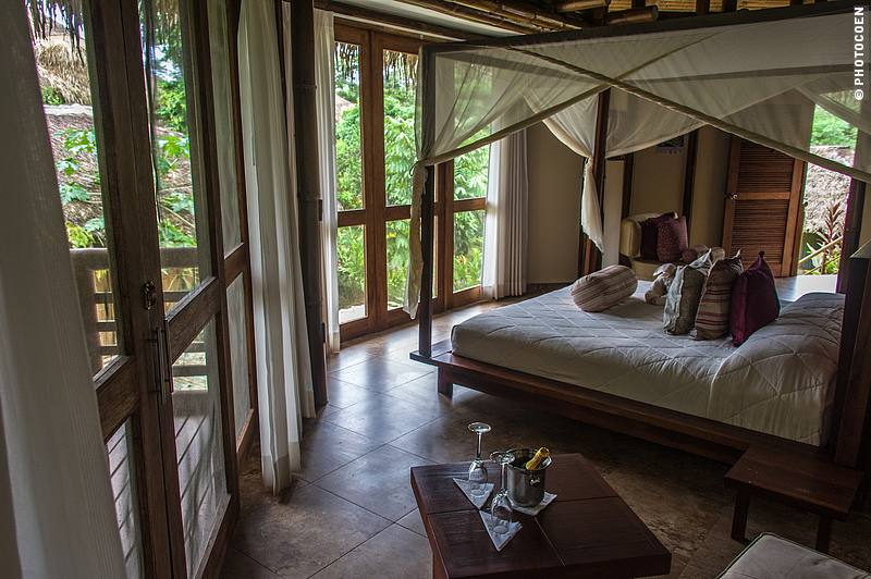 Bedroom at La Selva Eco Lodge in the Ecuadorian Amazon (©photocoen)