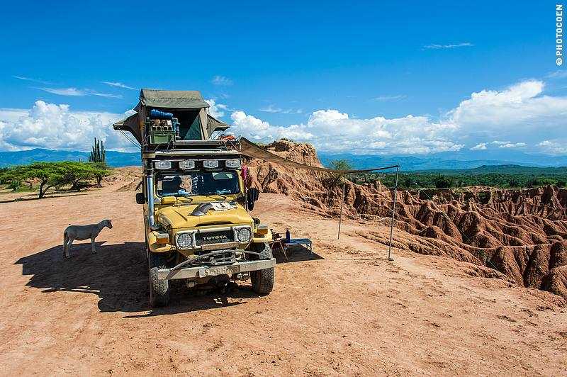 Camping in the Tatacoa Desert in Colombia (©photocoen)