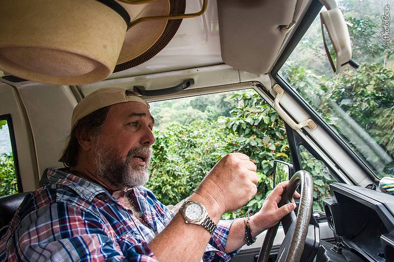 Luis Jaime: a passionate coffee grower as well as story teller.