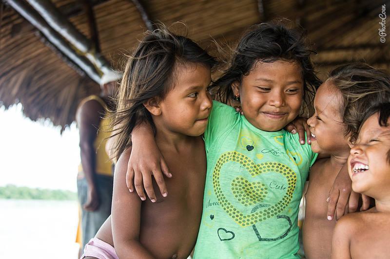 Warao kids having fun.