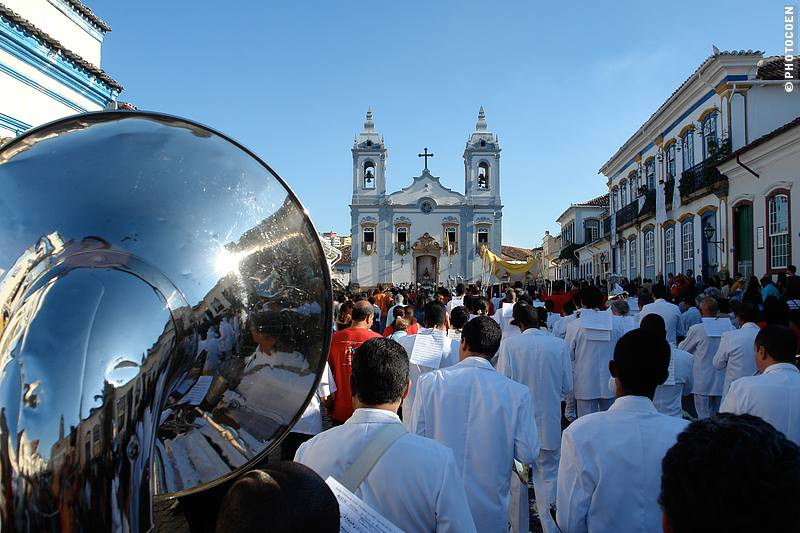 Procession of Corpus Christi in Brazil