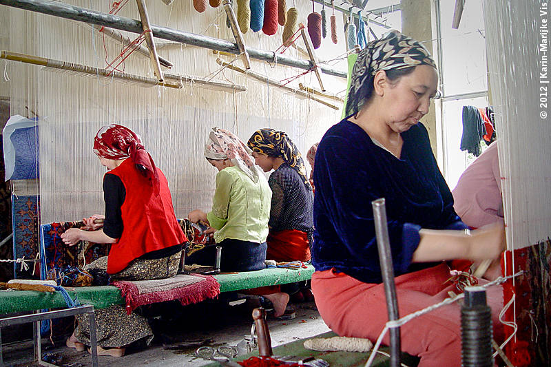 Carpet factory in Hotan