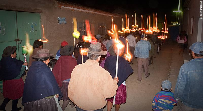 Processions are an important part of religious festivals in Bolivia (©photocoen)