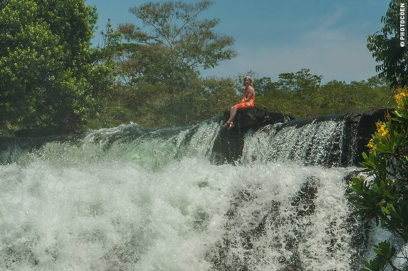 Waterfall at Ponto de Pedra, West Brazil